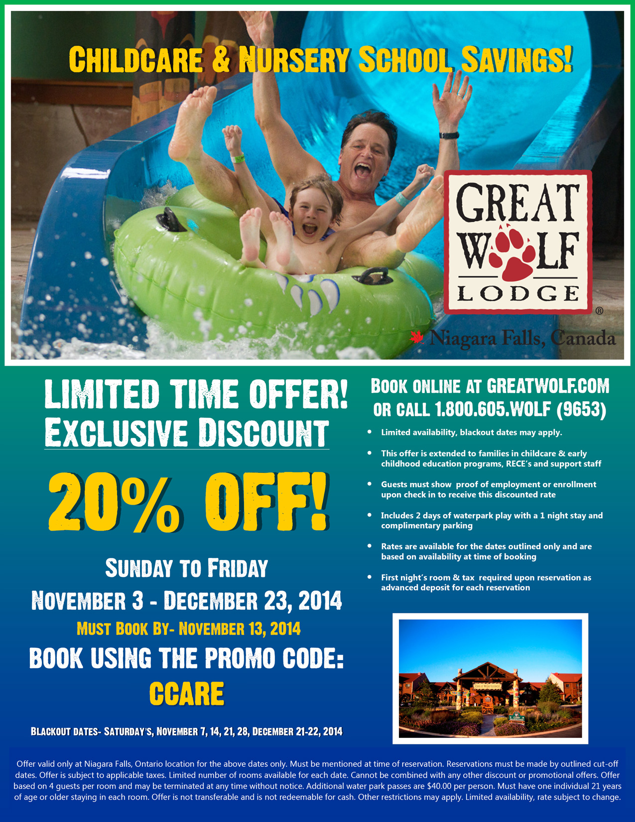Great-Wolf-Lodge---Childcare-&-Nursery-School-Sale-(October,-2014)