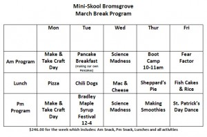 March Break Program